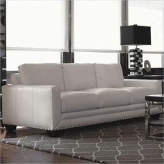 Lexington Black Ice Sapphire Sofa in white Cymax