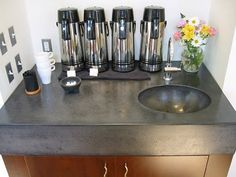 i love concrete countertops! maybe the run in from the sunroom bar to the breakfast bar?