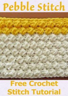 Crochet Stitches For Blankets, Crochet Stitches Free, Crochet Gratis, Tunisian Crochet, Afghan Crochet Patterns, Crochet Baby, Free Crochet, Puff Stitch Crochet, Crochet Instructions
