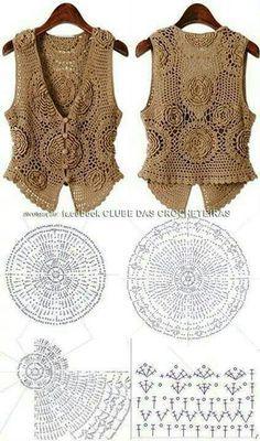 Fabulous Crochet a Little Black Crochet Dress Ideas. Georgeous Crochet a Little Black Crochet Dress Ideas. Lidia Crochet Tricot, Crochet Bolero, Crochet Waistcoat, Cardigan Au Crochet, Pull Crochet, Gilet Crochet, Mode Crochet, Crochet Coat, Crochet Jacket