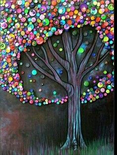 Button Tree by Monica Furlow; using for inspiration for my creation Button Tree by Monica Furlow; using for inspiration for my creation Button Tree by Monica Furlow; using for inspiration for my creation Tree Crafts, Fun Crafts, Diy And Crafts, Stick Crafts, Shape Crafts, Button Tree Art, Button Art On Canvas, Buttons On Canvas, Art Diy