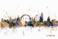 London England Skyline Digital Art by Michael Tomsett