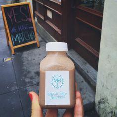 """A gloomy summer morning in NYC calls for a breakfast of chocolate coconut milk ⛅️ #nom #vegan #livefit #coconutmylk #sundayloving"" Photo taken by @skinnyinthenyc on Instagram"