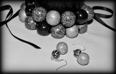Set - Grey Headphones, Grey, Handmade, Fimo, Mindful Gray, On Ear Earphones, Hand Made, Gray