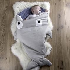 Baby Bites - Sleeping bag (Grey/Blue)