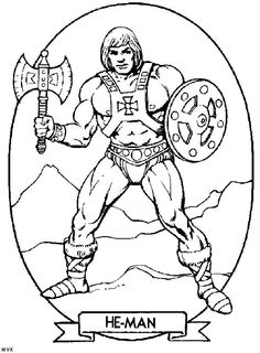 coloring pages action figures - he man and the masters of the universe on pinterest action figures universe and trading cards