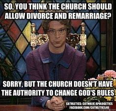 Catholic Humor, funny bc it's true. The Church of the custodian of truth.