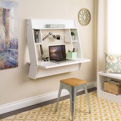 LITTLE BIG LIFE: Top 4 Floating Space saving desks with storage. Great for a small home office!