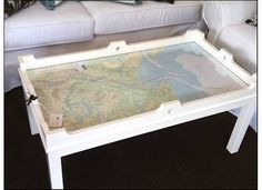 Dixie Delights: Coffee Table Nautical Chart {Porch Projects}