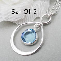 Bridesmaids Gifts 2 Infininty Necklaces Sterling by Kikiburrabeads, $50.00