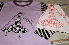 Handmade girls shirt, kids art
