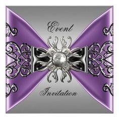 Purple and Silver Wedding Invitation | Pinterest | Silver wedding ...