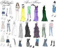 Pretty little liars  hand drawn watercolor Spencer Hastings printable paper doll by RobertaTomei on Etsy