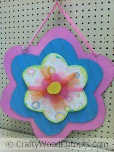 Hanging Flower Wood Craft