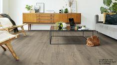 Eksempel på gulvfargen min Tarkett Long Boards 1032 Concrete Light, Plank, Corner Desk, Entryway Tables, Flooring, Living Room, Furniture, Home Decor, Sketching