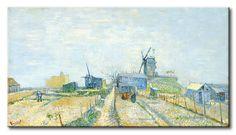 MU_VG2021 t_Van Gogh _ Montmartre, mills and vegetable gardens / Cuadro Arte Famoso, Montmartre, molinos y huertas