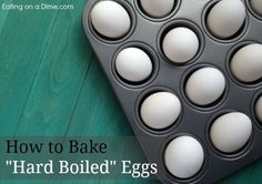 It is so easy to bake hard-boiled egged in the oven. How to make hard boiled eggs in the oven quickly. Perfect for a huge party or the holidays! Baked Hard Boiled Eggs, Making Hard Boiled Eggs, Cold Brew Coffee Maker, Real Coffee, Gifts For Photographers, Food Hacks, Food Tips, Cooking Tips, Oven Baked