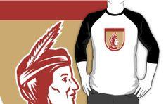 Native American Indian Chief Shield Retro by patrimonio