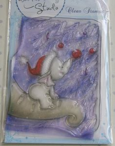 NEW Wild Rose Studio First Christmas Clear Stamp CL256