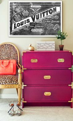 I want this Louis Vuitton print! Must have this! Devon Rachel: 14 Ways To Easily Update Your Home