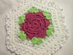 Crocheted Rose Doily by crochetedbycharlene on Etsy, $15.00