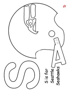 s is for seahawks coloring page seahawkssuper bowlcoloring pageschildren