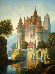 Средневековый замок - Схемы вышивки - Aliko - Авторы - Портал «Вышивка крестом»