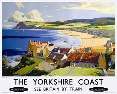 * ENGLAND - Yorkshire - Robin Hood's BAY by Frank Sherwin (1896–1986) Railway Travel Vintage Poster