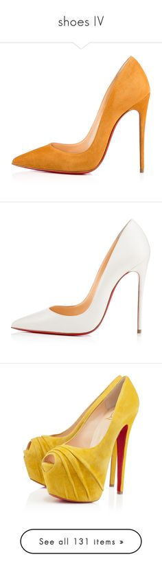 """""""shoes IV"""" by dudandradep ❤ liked on Polyvore featuring shoes, pumps, heels, christian louboutin, sapatos, sexy stilettos, stilettos shoes, high heel stilettos, pointy toe stiletto pumps and pointy-toe pumps"""