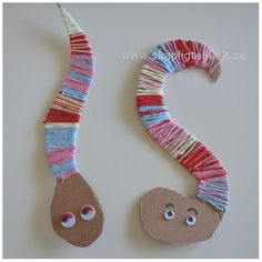 Bild från Bild von s media cache …. Yarn Crafts, Diy And Crafts, Arts And Crafts, Paper Crafts, Projects For Kids, Diy For Kids, Crafts For Kids, Crafty Kids, Camping Crafts