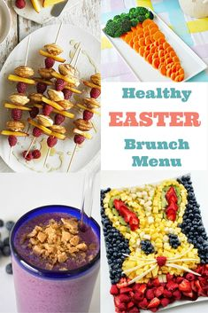 Here are so many fun and delicious ideas for easter brunch, including appetizers and snacks, smoothies, healthy mains and delicious sweets. Easter Brunch Menu, Easter Lunch, Brunch Buffet, Easter Dinner, Easter Food, Breakfast Buffet, Easter Buffet, Easter Stuff, Brunch Party