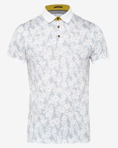 Floral print polo shirt - White | Tops & T-shirts | Ted Baker