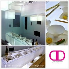 White Geometry: Modern Asian Fall Dining Space & Table Settings | The Decorating Diva, LLC