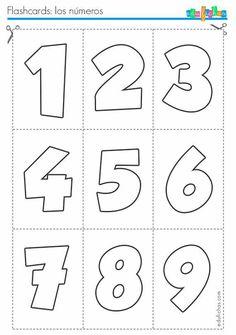 flashcards de numeros … is part of Numbers preschool - Preschool Writing, Numbers Preschool, Preschool Education, Preschool Learning Activities, Learning Numbers, Preschool Worksheets, Kindergarten Math, Teaching Kids, Kids Learning