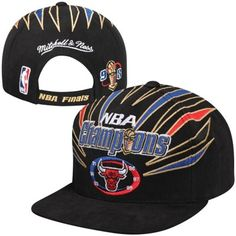 Mitchell & Ness Chicago Bulls 1998 NBA Finals Champions Snapback Hat - Black is in stock now at NBA Store and Guaranteed Authentic. Who The Cap Fit, Nba Championships, Nba Chicago Bulls, Fitted Caps, Boston Celtics, Vintage Hats, Snapback Hats, Men's Accessories, Sport Outfits