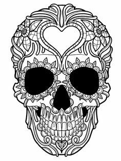 zentangle vorlagen sugar-skull-halloween-blumen-ausmalen-erwachsene-ideen