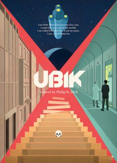 Ubik Philip K. Dick science fiction poster by Libricons on Etsy