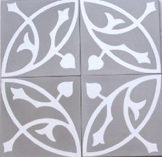 Taupe encaustic tiles