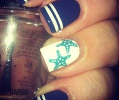 White tips & star fish= LOVEE!