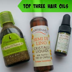 Give your hair some TLC with these: Top Three Hair Oils
