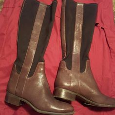 Nine West Boots Pair of Nine West Boots in brown and black. Worn a few times in excellent condition. Nine West Shoes