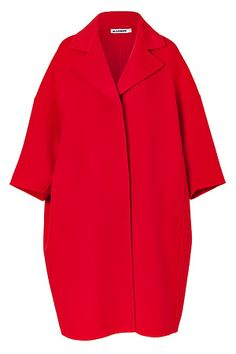 STYLEBOP.com | FireRedOversizedWoolCoatbyJILSANDER | the latest trends from the capitals of the world