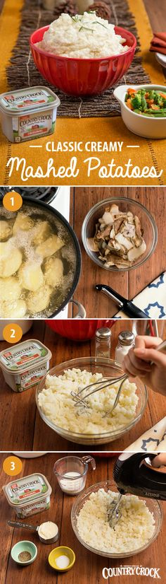 From the Thanksgiving turkey to the Christmas ham, your holiday mains look even better with a side of creamy mashed potatoes. Try this simple recipe with Idaho Potatoes—they're the perfect texture for this dish, especially when paired with the country fresh taste and real ingredients of Country Crock®!  Irresistible to picky eaters and foodies alike, sometimes a simple comfort food classic is all you need to bring a meal together!