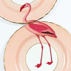 Image of Flamingo plate set