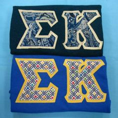 One of our on sale packs, available now. Click through to see how many are available (usually one) and for more information on the items included. It's practically a steal! Custom Greek Apparel, Sorority Outfits, Sigma Kappa, Greek Clothing, Bid Day, Screen Printing, Lettering, Pattern, Greek Outfits