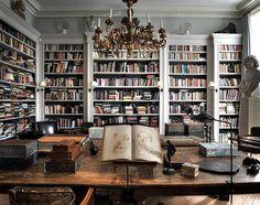 Mmravigliosa!!! Biblioteca privata di un collezionista e storico dell'arte di Londra, realizzata dall'arch. Patrice de Turenne. Foto di Nicolas Tosi