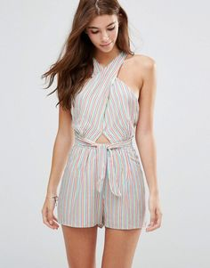 6 SHORE ROAD CARGO WRAP ROMPER - MULTI. #6shoreroad #