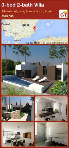 3-bed 2-bath Villa in Alicante, Algorfa, Blanca North, Spain ►€349,000 #PropertyForSaleInSpain