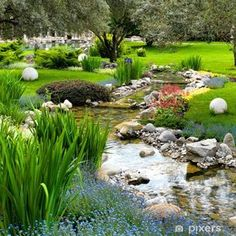 If you are working with the best backyard pool landscaping ideas there are lot of choices. You need to look into your budget for backyard landscaping ideas Backyard Water Feature, Ponds Backyard, Backyard Ideas, Pond Ideas, Backyard Stream, Garden Ponds, Patio Ideas, Asian Garden, Diy Garden