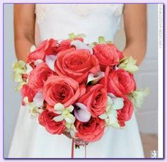 coral colored wedding bouquets- i do love coral, so maybe worth a look...